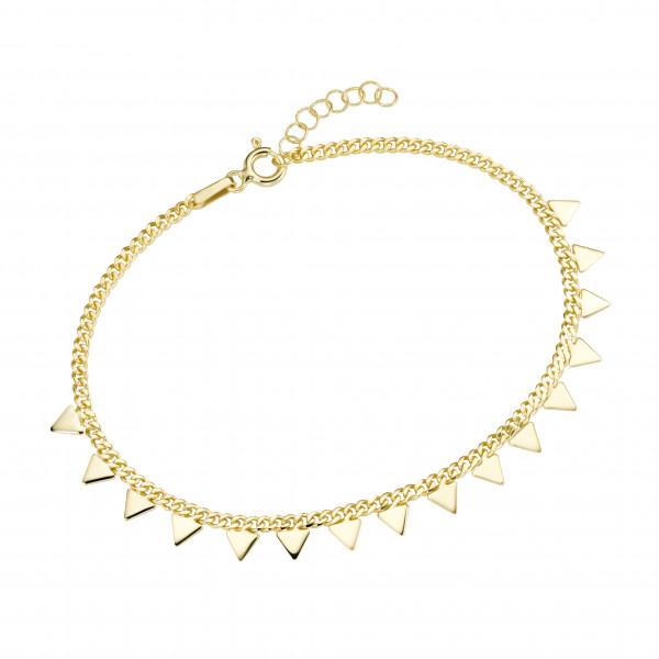 Da-lino 925 Silber vergoldetes Damen Armband mit Dreicken