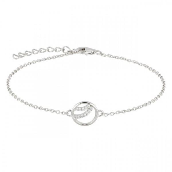 Joanli Nor Damen Armband Silber mit weißen Zirkonia