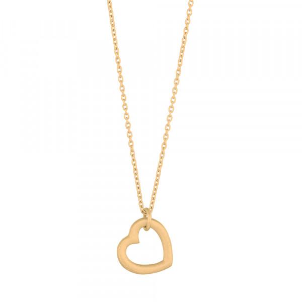 Vergoldet Halskette LOVE52 14mm