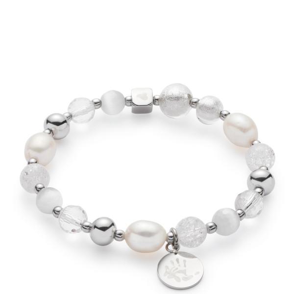 Damen-Armband, LEONARDO CLIP & MIX silber mit Perlen Hope VII Darlin's