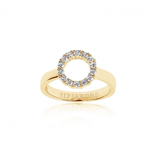 Ring Biella Piccolo - 18Kvergoldet mit weißen Zirkonia