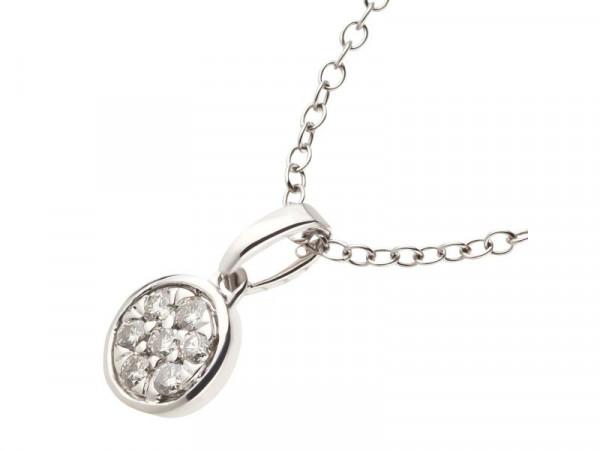 Damen-Halskette, DALINO 375 Weißgold mit 0,13 ct Diamanten