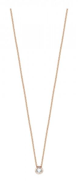 Esprit Damenhalskette Halskette Rosevergoldet mit Zirkonia ESNL00791342