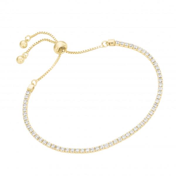 Da-lino Damen Armband 925 Silber vergoldetes Tennisarmband