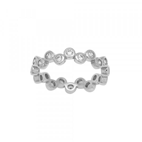 Rhodinierter Silber Ring EMMYNOR 4mm