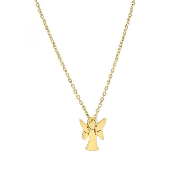 Nordahl Jewellery Vergoldete Silber Halskette GUARDIAN 11mm 45+5cm