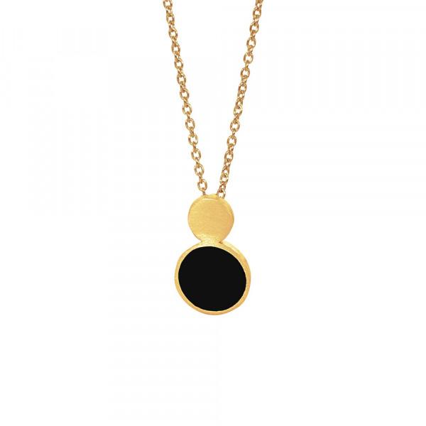 Vergoldet Halskette BLACK 16mm