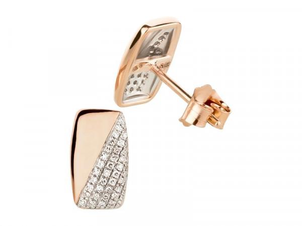 Damen-Ohrringe, DALINO 375 Gold Ohrstecker mit 0,10 ct Diamanten