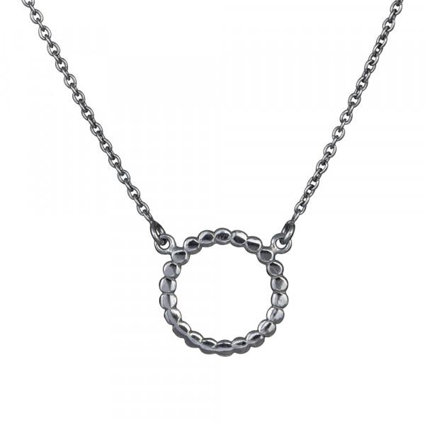 Oxidierte Silber Halskette 17mm 45+5cm