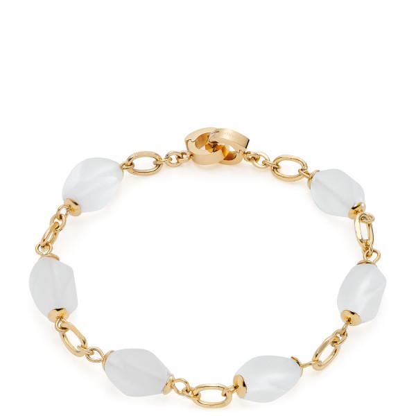 LEONARDO Armband mit weißen Perlen Ofira Clip & Mix