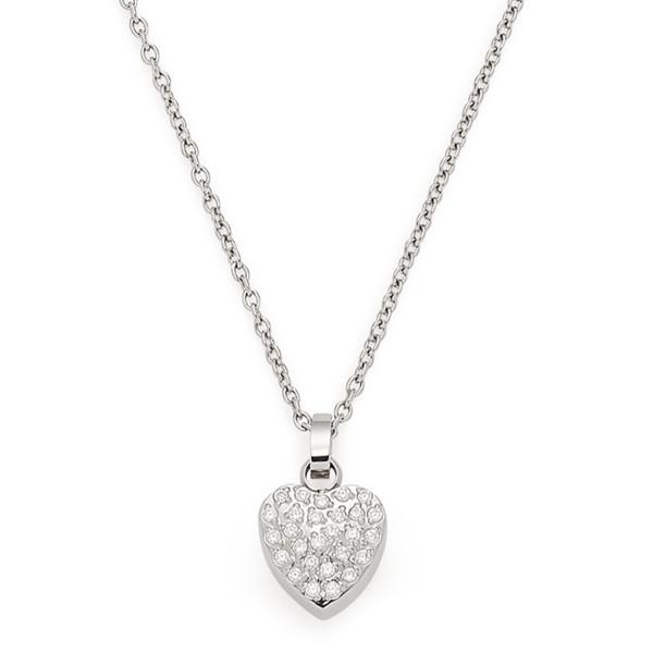 LEONARDO Damen Halskette Adelina mit Herz Anhänger Zirkonia
