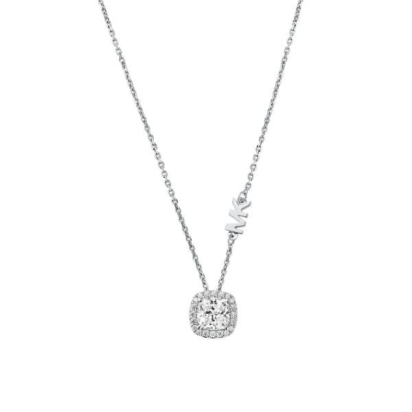 Michael Kors Damen Halskette 925er Silber Anhänger mit Zirkonia