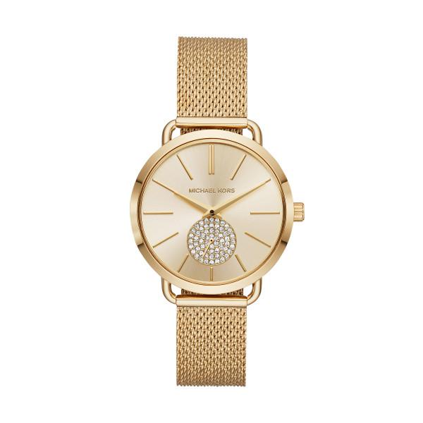 Michael Kors Uhr Damen in Gold Mesharmband