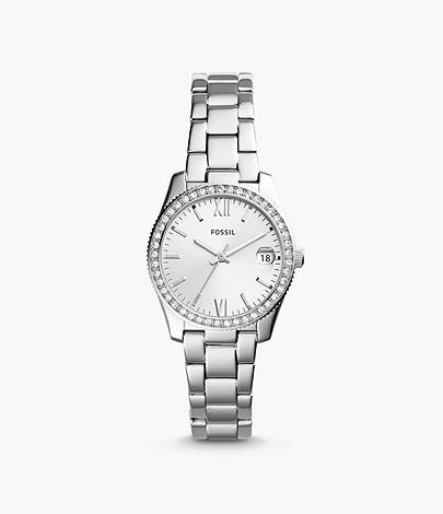 Fossil Uhr Damen Scarlette 3-Zeiger/Datum Edelstahl