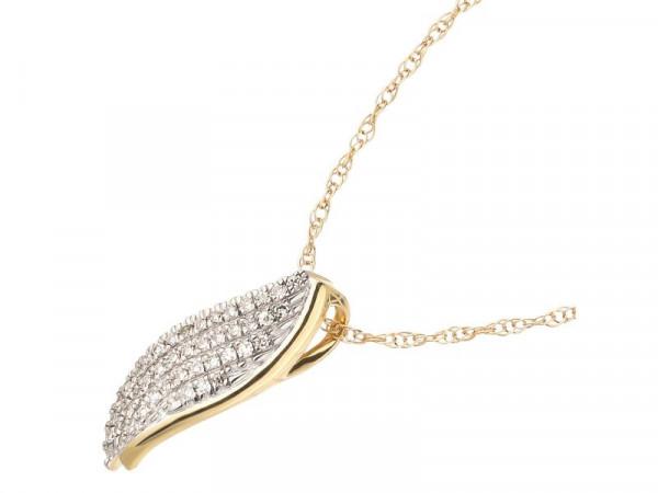 Damen-Halskette, DALINO 375 Gold mit 0,06 ct Diamanten
