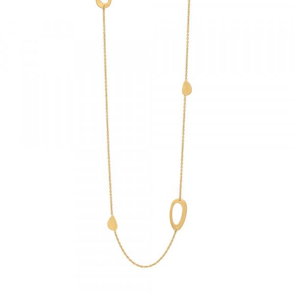 Vergoldet Halskette COMPOSED52 80+10cm