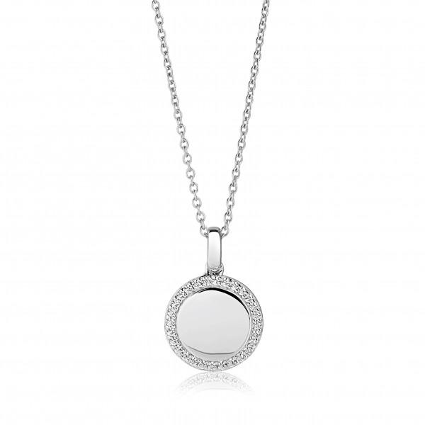 Sif Jakobs Damen Halskette Follina 925er Silber mit weißen Zirkonia