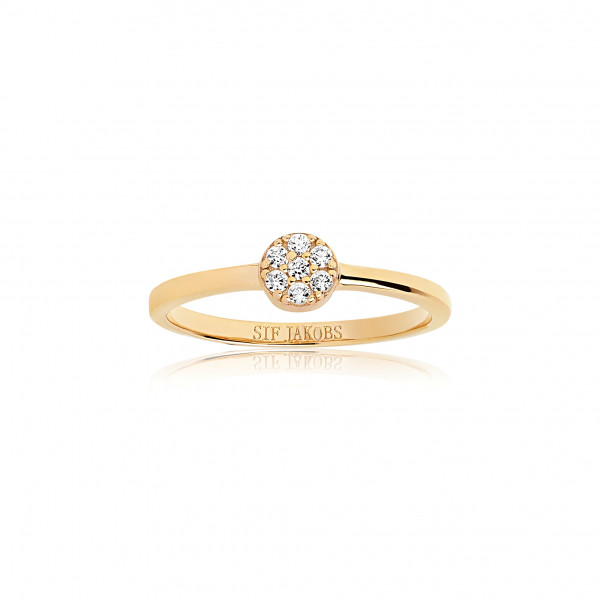 Sif Jakobs Damen Ring Cecina 18K vergoldet mit weißen Zirkonia
