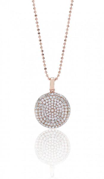 Sif Jakobs Damen Halskette Monterosso 18K rosévergoldet mit weißen Zirkonia