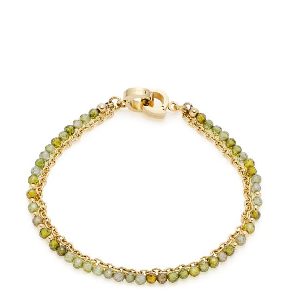 LEONARDO Armband mit grünen Zirkoniaperlen Maila Clip & Mix