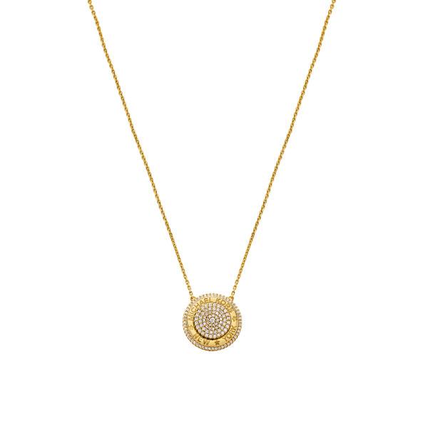 Michael Kors Damen Halskette mit Anhänger PREMIUM vergoldet