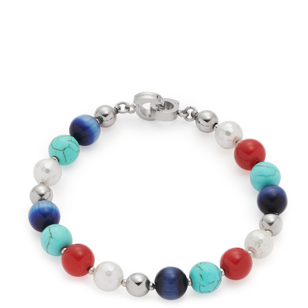 Damen-Armband, LEONARDO CLIP & MIX mehrfarbig Cat's Eye Perlen Como Dalin's