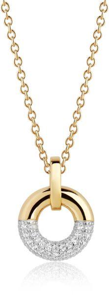 Sif Jakobs Damen Halskette Cannara 18K vergoldet mit weißen Zirkonia