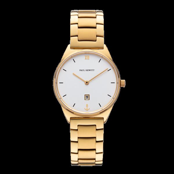 Paul Hewitt Uhr Damen Praia White Sand Gold Metall