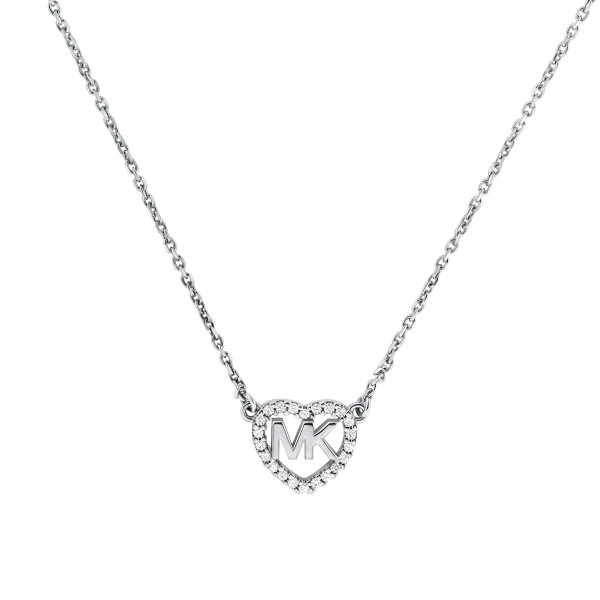 Michael Kors Damen Halskette mit Herz Anhänger in 925er Silber