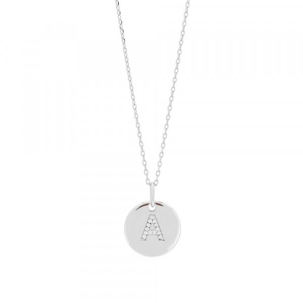 Joanli Nor Halskette in 925 Sterling Silber mit Zirkonia Buchstabenanhänger ELLANOR