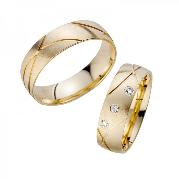Trauringe Eheringe Gelbgold Cilor Perfect Love Kollektion HR 187A