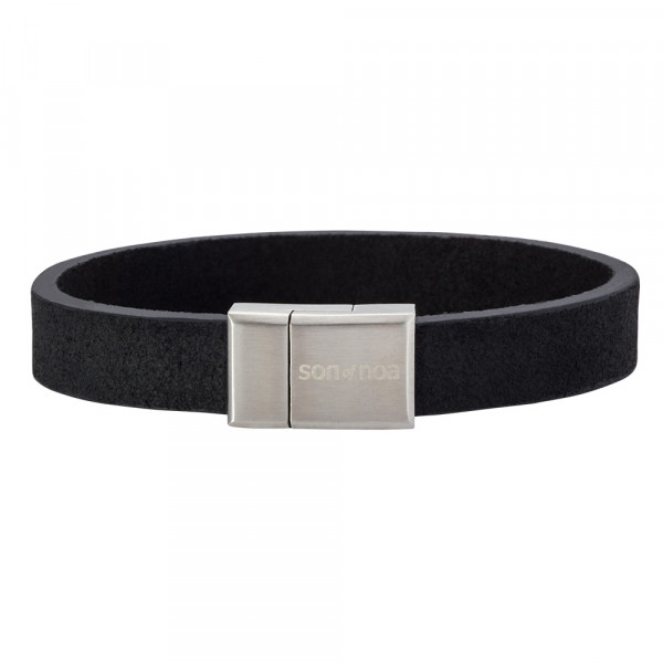 SON of NOA Herren-Armband Armband schwarzes Kalbsleder