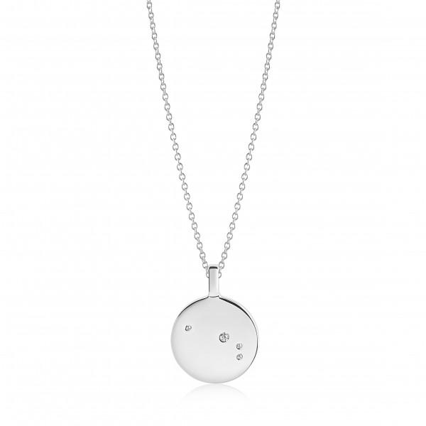 Damenhalskette Halskette Zodiaco Widder mit weißen Zirkonia SJ-P1053