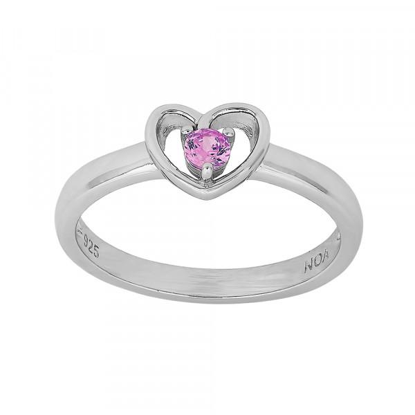 Kinder-Ring, NOA KIDS JEWELLERY silber rhod. mit pinken Zierstein