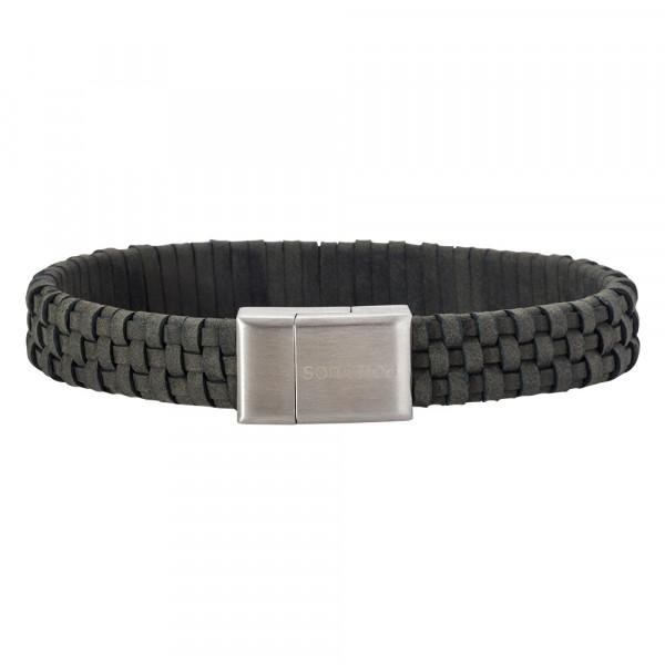 SON of NOA Herren-Armband Armband graues Kalbsleder