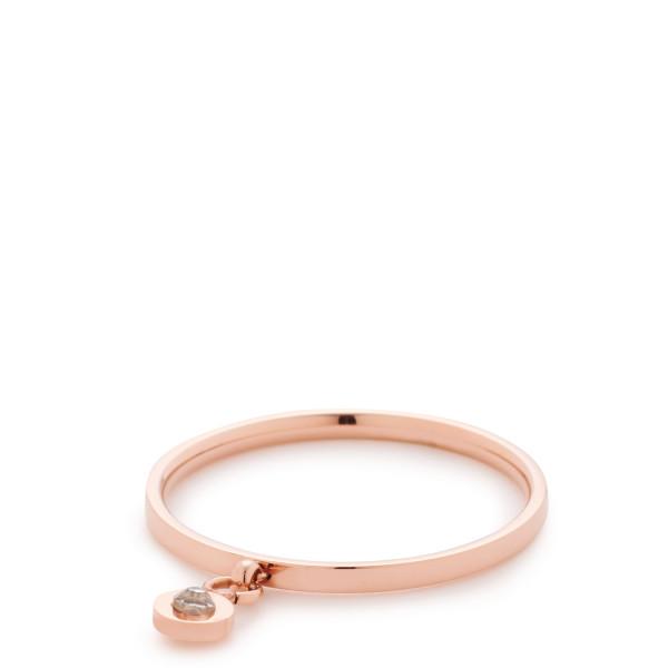 Damen-Ring, CIAO! BY LEONARDO Edelstahl rosegold Schliffkristalle Adea