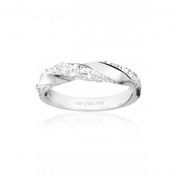 Sif Jakobs Ring Damen Ferrara 925er Silber mit weissen Zirkonia