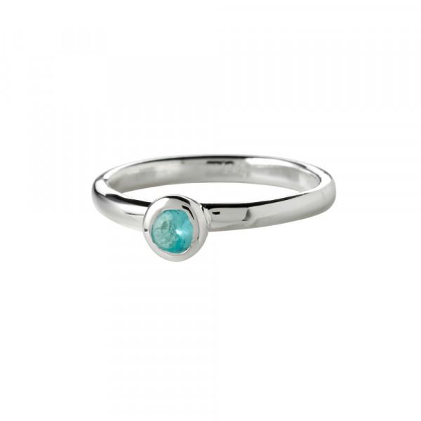 Kinder-Ring, NOA KIDS JEWELLERY silber mit blauem Zirkonia