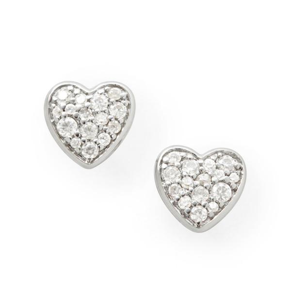 Fossil Damen Ohrstecker Herz in 925er Sterling Silber