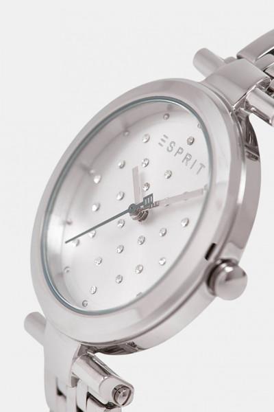 ESPRIT Uhr Damen Edelstahlarmband Silber mit Zirkonia