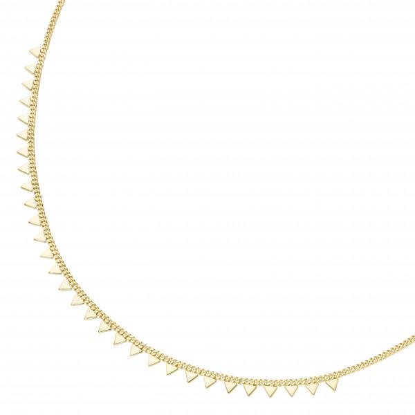 Da-lino Damen Halskette in 925er Silber vergoldet