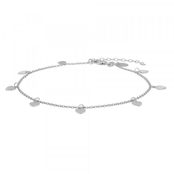 Nordahl Jewellery Damenfusskettchen Rhod. Silber Fusskette DISC52 27cm