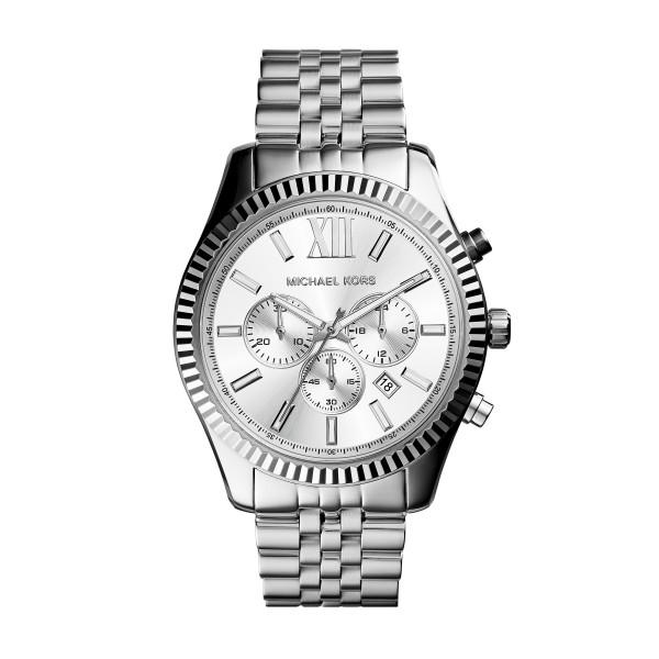 Michael Kors Herrenuhr Chronograph Quarz in Silber