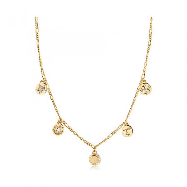 Sif Jakobs Damen Halskette Portofino 18K vergoldet mit Zirkonia