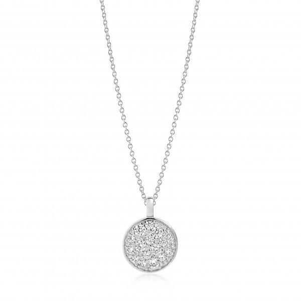 Sif Jakobs Damen Halskette Novara 925er Silber mit weissen Zirkonia
