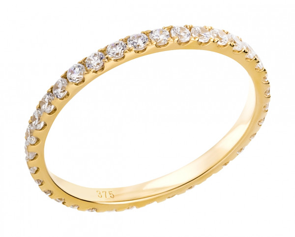 Damenring Eternity Memory Ring 375 Gold mit Zirkonia-Steine