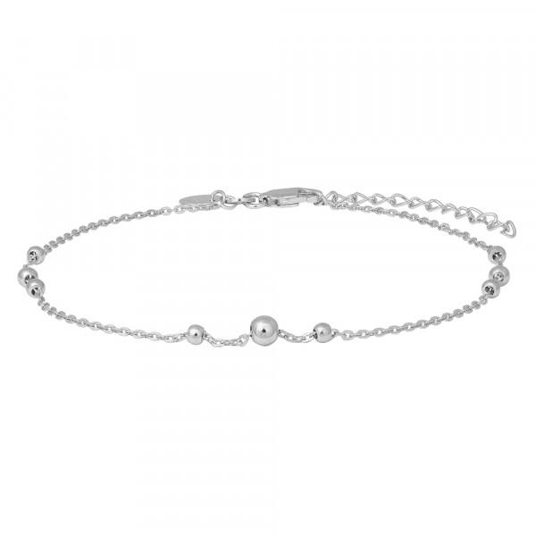 Nordahl Jewellery Damenfusskettchen Rhod. Silber Fusskettchen BEAD52 27cm