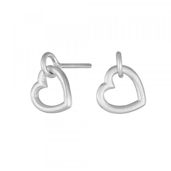 Nordahl Jewellery Damen-Ohrstecker Herz aus Sterling Silber