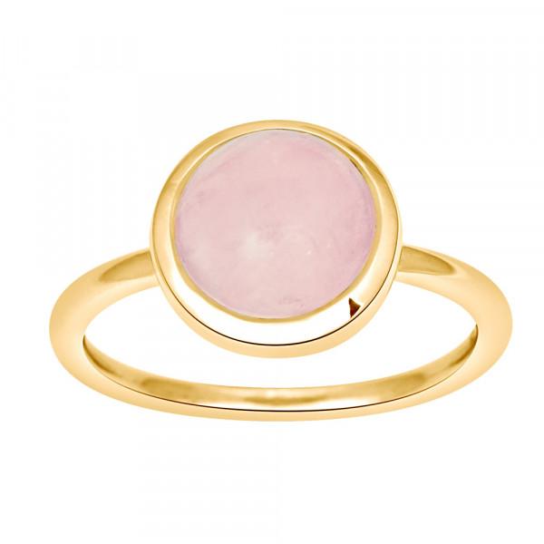 Nordahl Jewellery Damenring vergoldeter Ring SWEETS Rosenquarz 9mm