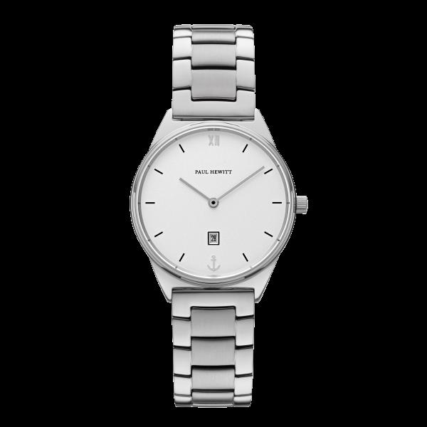 Paul Hewitt Uhr Damen Praia White Sand Silber Metall